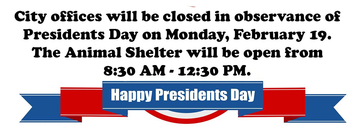 Presidents Day closure