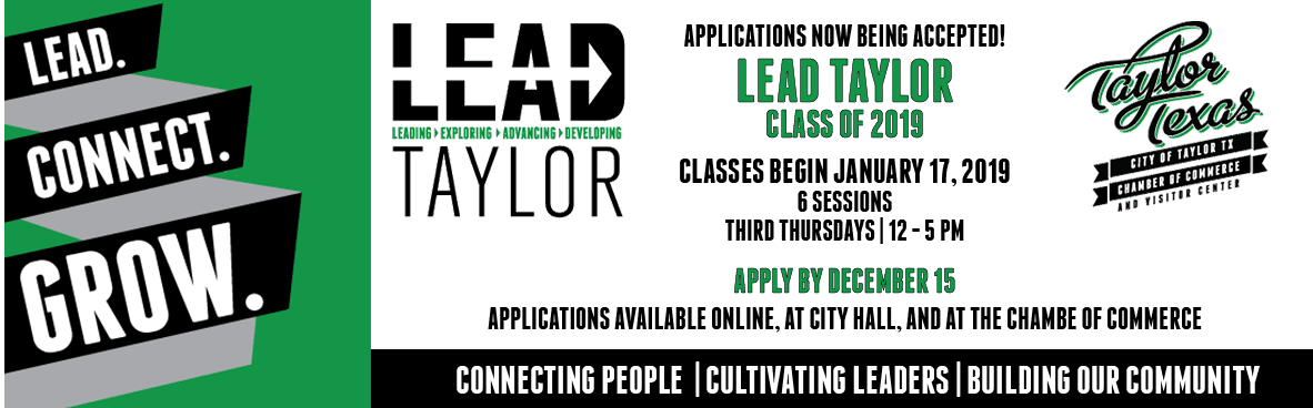 LEAD Taylor 2018 Banner